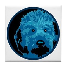 Labradoodle - color 3 Tile Coaster