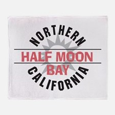 Half Moon Bay California Throw Blanket