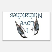 I Love Nuthatches Decal