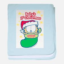 Garfield Baby 1st Christmas baby blanket
