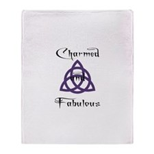 Charmed and Fabulous Triquetr Throw Blanket