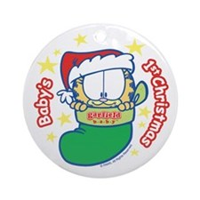 Garfield Baby's 1st Christmas Ceramic Ornament