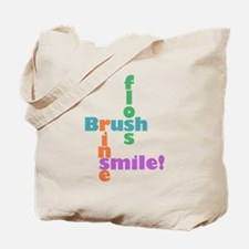 Brush Floss Rinse Smile Tote Bag