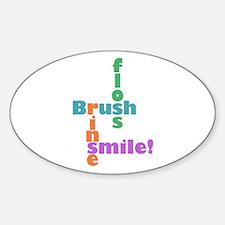 Brush Floss Rinse Smile Decal