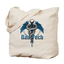 Rad Tech Caduceus Blue Tote Bag