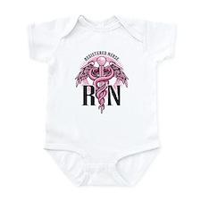 RN Caduceus Pink Infant Bodysuit
