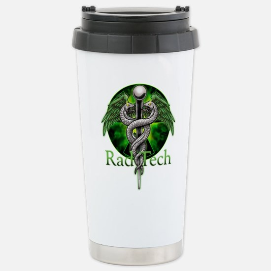 Rad Tech Caduceus Green Stainless Steel Travel Mug