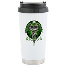 Rad Tech Caduceus Green Travel Mug
