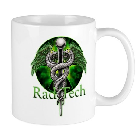 Rad Tech Caduceus Green Mug