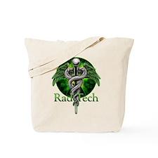 Rad Tech Caduceus Green Tote Bag