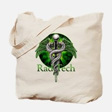 Rad Tech Caduceus Green Tote Bag