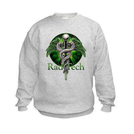 Rad Tech Caduceus Green Kids Sweatshirt