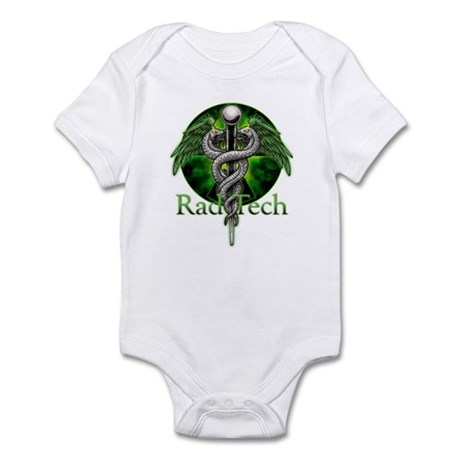 Rad Tech Caduceus Green Infant Bodysuit