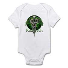 Rad Tech Caduceus Green Infant Bodysuit