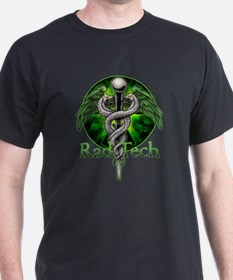 Rad Tech Caduceus Green T-Shirt