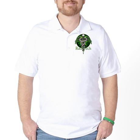 Rad Tech Caduceus Green Golf Shirt