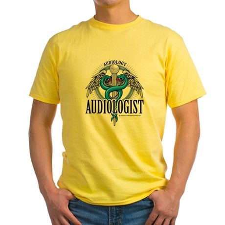 Audiologist Caduceus Yellow T-Shirt