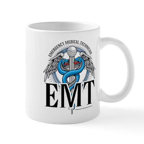 EMT Caduceus Blue Mug
