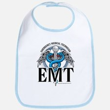 EMT Caduceus Blue Bib