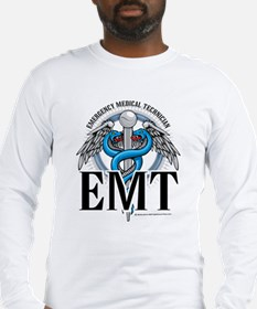 EMT Caduceus Blue Long Sleeve T-Shirt