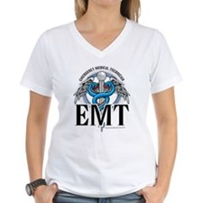 EMT Caduceus Blue Shirt