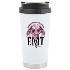 EMT Caduceus Pink Travel Mug