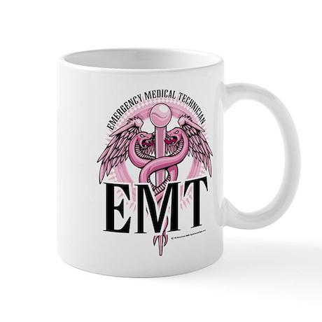 EMT Caduceus Pink Mug