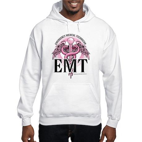 EMT Caduceus Pink Hooded Sweatshirt