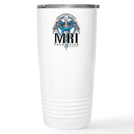 MRI Tech Caduceus Blue Stainless Steel Travel Mug