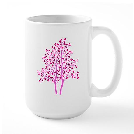 pink tree Large Mug