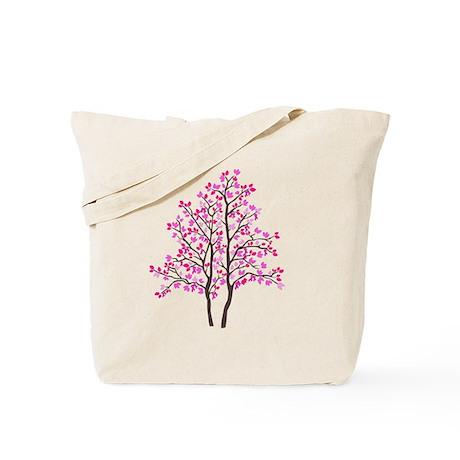 pink tree Tote Bag