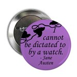 Jane Austen pin with quotation on time