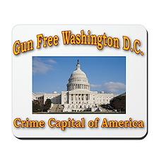 Gun Free Washington D C Mousepad