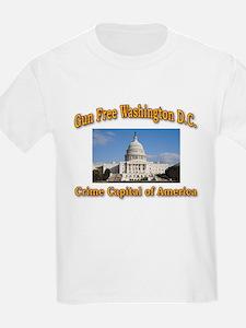 Gun Free Washington D C T-Shirt