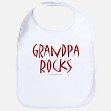 Grandpa Rocks (Red) - Bib