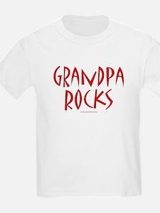 Grandpa Rocks (Red) - Kids T-Shirt