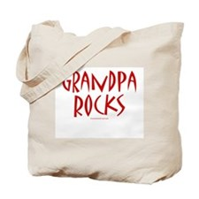 Grandpa Rocks (Red) - Tote Bag