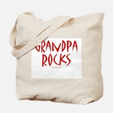 Grandpa Rocks (Red) - Tote Bag