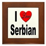I Love Serbian Framed Tile