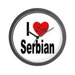 I Love Serbian Wall Clock