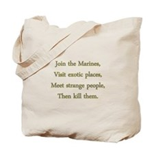 Join th Marines Tote Bag