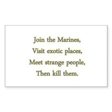 Join th Marines Decal