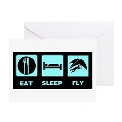 Eat Sleep Fly Greeting Cards (Pk of 20)