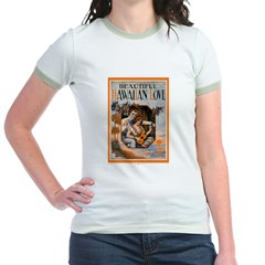 Hawaiian Valentine Jr. Ringer T-Shirt