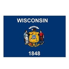 Wisconsin Flag Postcards (Package of 8)