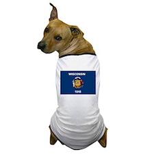 Wisconsin Flag Dog T-Shirt