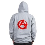 Anarchy-Red Zip Hoodie