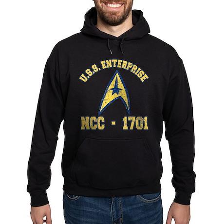 USS ENTERPRISE NCC-1701 Hoodie (dark)