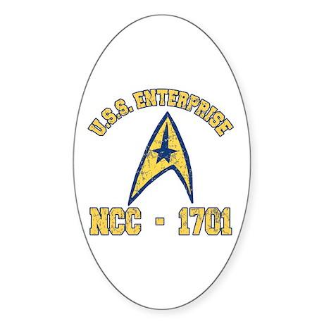 USS ENTERPRISE NCC-1701 Sticker (Oval)