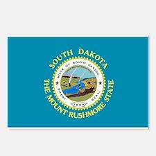 South Dakota Flag Postcards (Package of 8)
